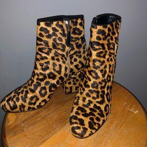 vintage fur cheetah boots
